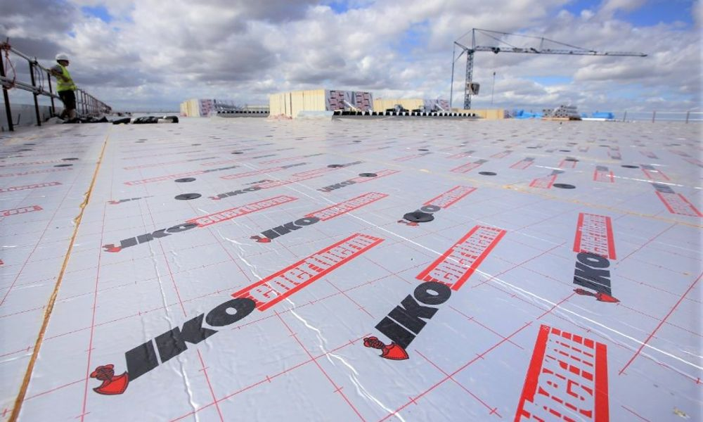 Enertherm boards on commercial roof