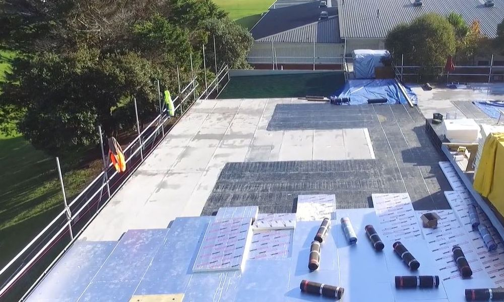 Howick College Warm Roof overlay