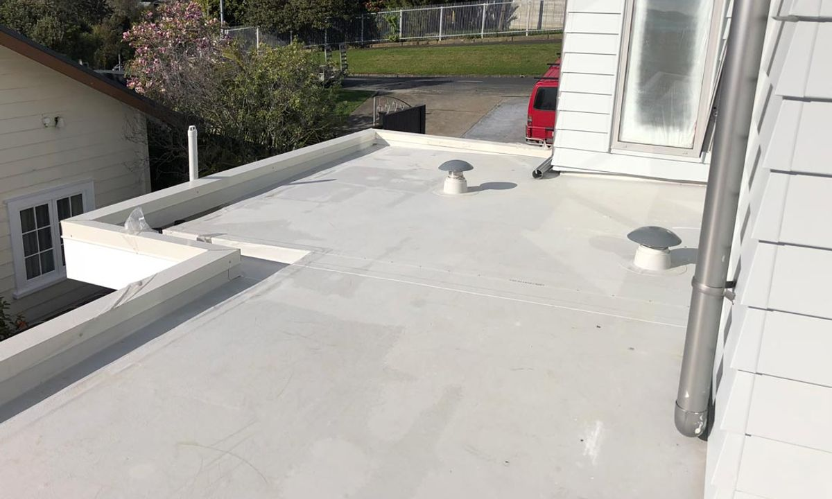 Nuraply TPO roof and gutter
