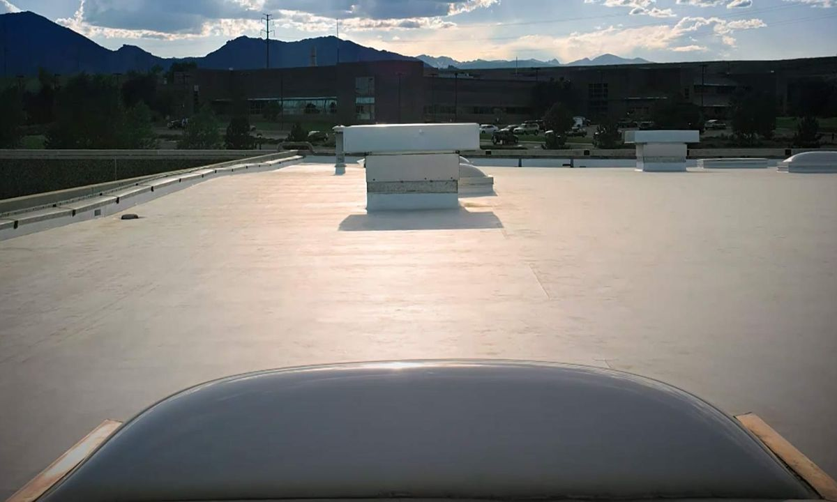 Commercial roof with TPO