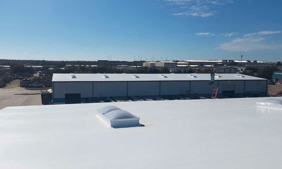 Commercial roofs with TPO